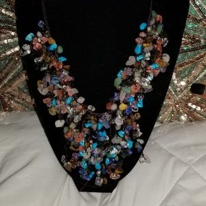 Beaded multicolored necklace